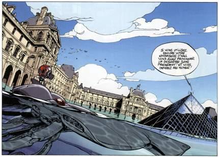 Paris en bd - Pyramide du louvre inauguration ...